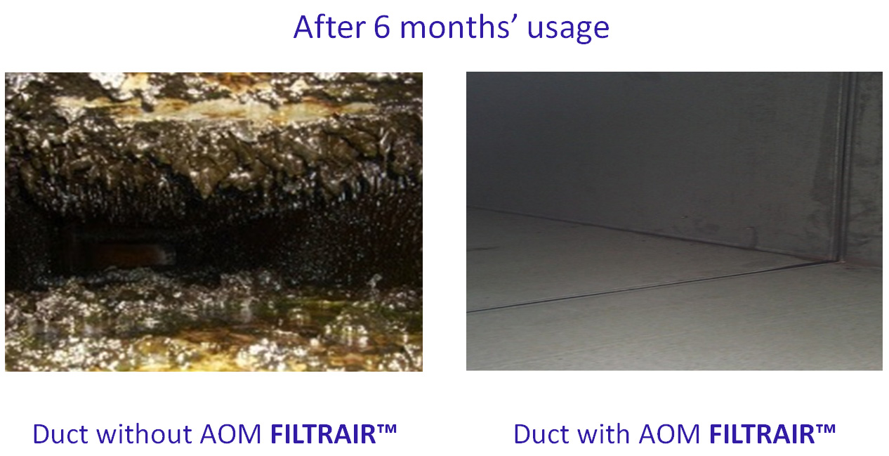 AOM Air and Odor Management FILTRAIR comparison