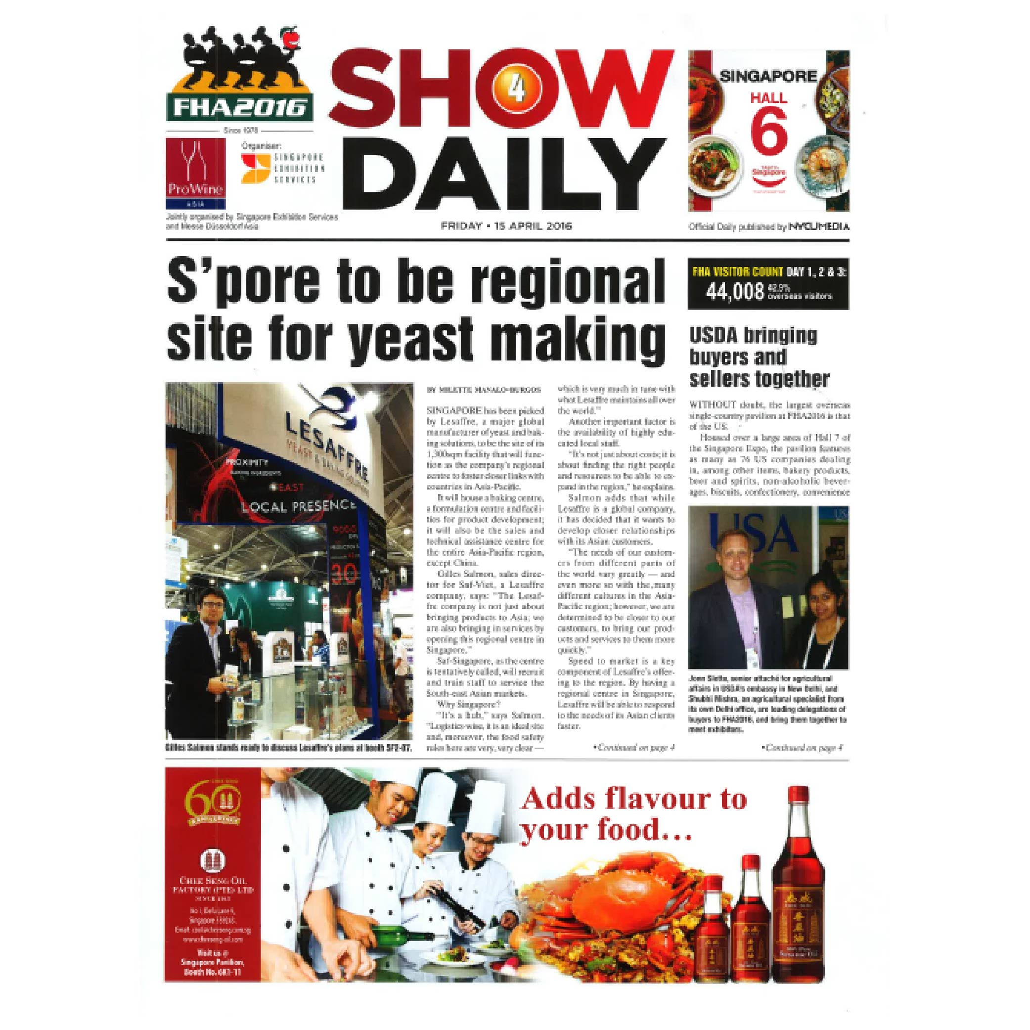 AOM Air and Odor Management being featured in Show Daily Singapore