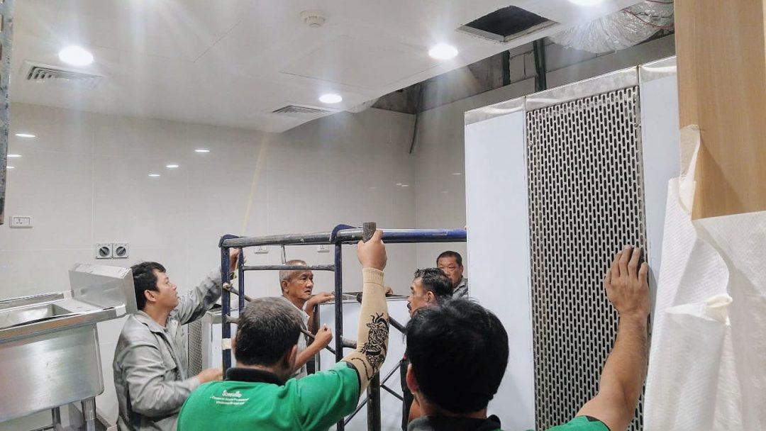 AOM Team for HC Series Hood Installation at Thailand