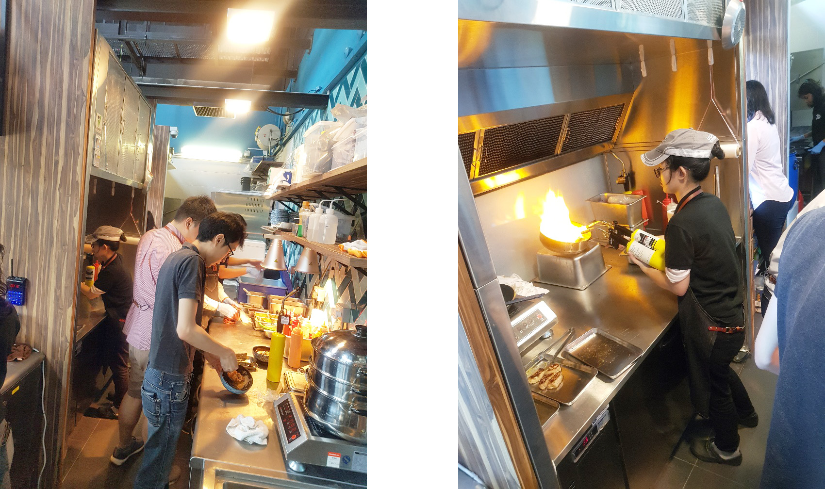 clients using ventler kitchen ventilated cooktop