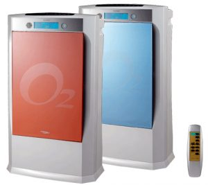Airion SA9500 Air Purifier in Red and Blue